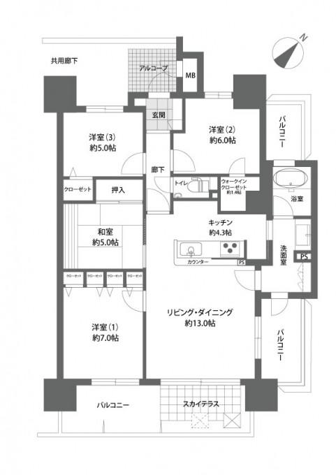 ロイヤルガーデン大供弐番館1205