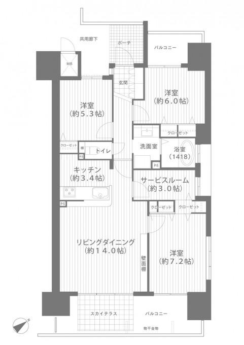 ★間取り図面_ロイヤルガーデン大供表町603 (1)