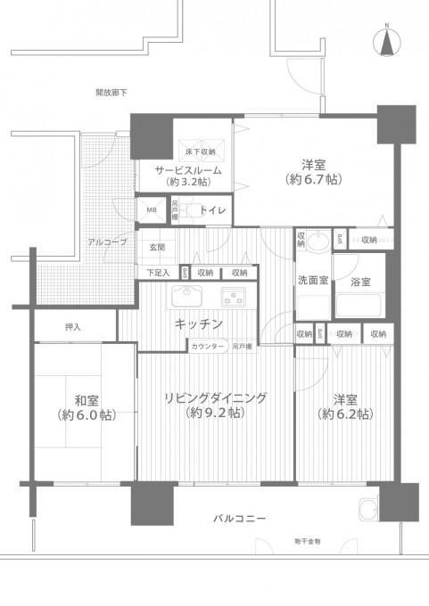 ★間取り図面_ラヴニール辰巳304-D