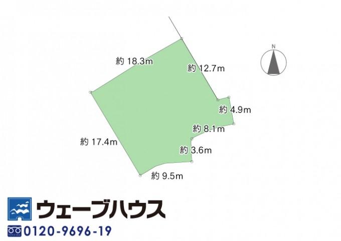 ★区画図面_12491 津島西坂3丁目古家付き土地